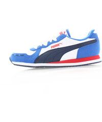 Dámské modro-bílé tenisky Puma Cabana Racer SL
