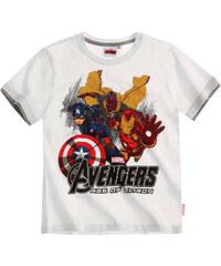 Avengers Assemble T-Shirt weiß in Größe 116 für Jungen aus 100% Baumwolle