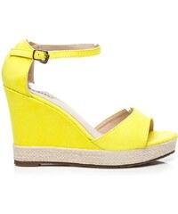 SEASTAR Žluté semišové sandály espadrilky 37
