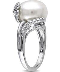 KLENOTA Stříbrný prsten s bílou perlou