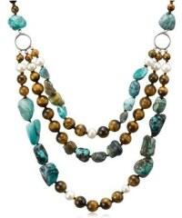 Klenota Náhrdelník s drahokamy a perlami