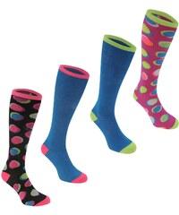 Miss Fiori 4 Pack dámské Knee High Socks Spot Multi