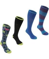 Miss Fiori 4 Pack dámské Knee High Socks LOL Multi