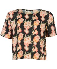 Triko Golddigga Crop Top dámské Black/floral