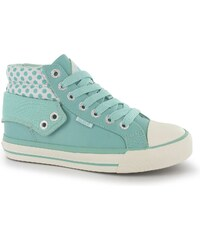SoulCal Fold Hi Childrens Trainers Mint/White/Spot