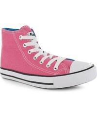 Lee Cooper Great High dětské Canvas Shoes Fuschia