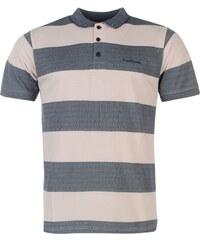 Polokošile pánská Pierre Cardin Stripe Polo Charcoal/Pink