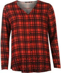 Košile dámská Golddigga V Neck Red/Blk Check
