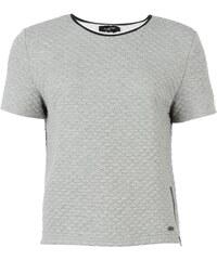 Triko Firetrap Luxe Quilted T Shirt dámské Grey Marl