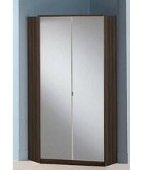 wimex Eckkleiderschrank mit Spiegel Genf Columbia nussbaumfarben