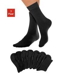 LAVANA Basic Socken (7 Paar) mit druckfreiem Bündchen schwarz 35-38,39-42