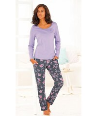 Pyjama mit zartem Allover-Floralprint Vivance Dreams bunt 32-34,36-38,40-42