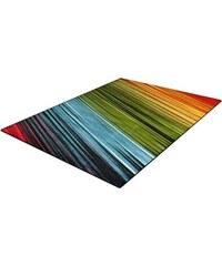 TREND TEPPICHE Teppich Trend-Teppiche Kolibri 11009 Streifen-Design grün 2 (B/L: 80x150 cm),3 (B/L: 120x170 cm),4 (B/L: 160x230 cm),6 (B/L: 200x290 cm)