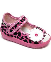 Ren But Dívčí leopardí bačkůrky - růžové