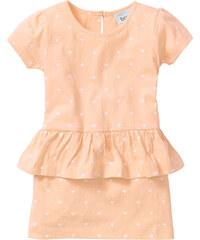 bpc bonprix collection Kleid mit Schößchen, Gr. 80-134 kurzer Arm in orange von bonprix