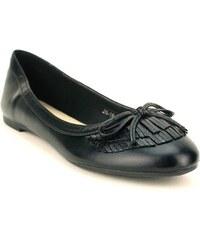 Ballerine Noire cuir - Cendriyon
