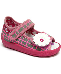 Ren But Dětské sandálky na suchý zip s květinou