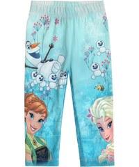 Disney Die Eiskönigin Caprihose hellblau in Größe 104 für Mädchen aus 63% Polyester 33% Baumwolle 4% Elasthan