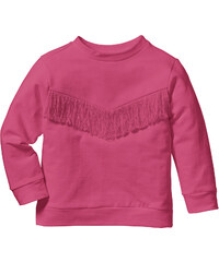 bpc bonprix collection Sweat à franges, T. 80/86-128/134 fuchsia manches longues enfant - bonprix