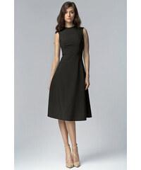 Nife Elegantní černé šaty MIDI