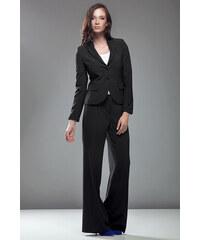 Nife Elegantní černé zvonové kalhoty