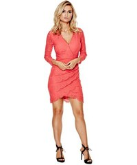 Guess Šaty Three-Quarter Sleeve Lace Dress