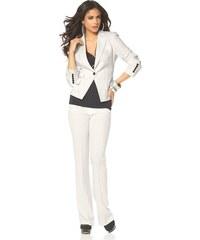 Dámský bílý kalhotový kostým Laura Scott zkrácená délka (vel.36 skladem) režná (ecru) 18 (36) Dopravné zdarma!