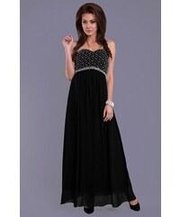 Společenské dlouhé šaty EVA&LOLA - černé
