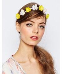 ASOS - Haarband mit kleinen Blumenperlen - Mehrfarbig