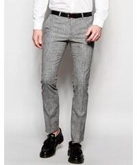 Noose & Monkey - Pantalon super skinny à carreaux Prince de Galles - Noir