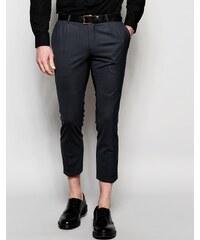 Noose & Monkey - Pantalon stretch fuselé à double plis - Gris