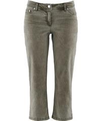 bpc bonprix collection Pantalon extensible 3/4 avec lycra vert femme - bonprix