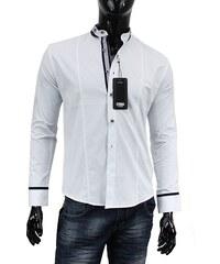 CARISMA košile pánská 8184 dlouhý rukáv slim fit bílá
