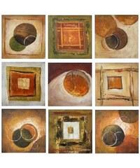 Obraz čtverce a kruhy 413TH0036