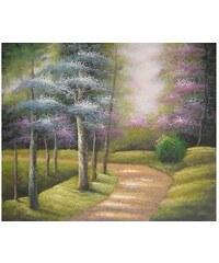 Obraz - Ranní cesta lesem