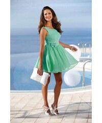Koktejlové krajkové minišaty, dívčí krajkové šaty MELROSE (vel.42 skladem) 42 tyrkysová Dopravné zdarma!
