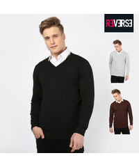 Re-Verse Pull style tricot avec col en V