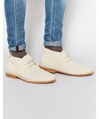 Jack & Jones - Gobi - Chukka-Stiefel aus Wildleder - Weiß