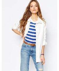 MiH Jeans M.i.H Jeans - Veste en jean style chemise - Crème