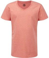 Dívčí tričko HD V-výstřih - Korálová 116 (5-6)