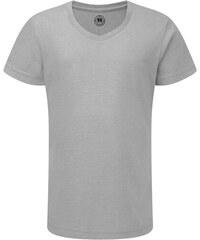 Dívčí tričko HD V-výstřih - Stříbrná 116 (5-6)