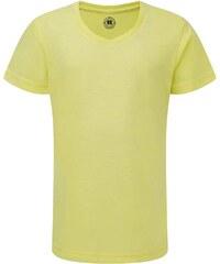 Dívčí tričko HD V-výstřih - Světle žlutá 116 (5-6)