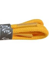 VTR Bavlněné kulaté tkaničky tenké - žlutá cm