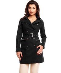 Luxusní dámský kabát K.Zell - černý