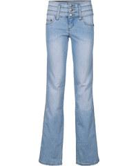 John Baner JEANSWEAR Jean extensible ventre jambe fessiers remodelés BOOTCUT, T.L. bleu femme - bonprix