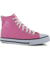 Dunlop dětské Canvas High Top Trainers Pink
