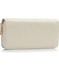 L&S Fashion (Anglie) Peněženka LSP1074 krémová