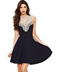 Flora Luna Dámské šaty FLA22149_BLACK / WHITE