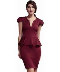 Flora Luna Dámské šaty FLA6173-2_BURGUNDY