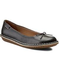 Halbschuhe CLARKS - Tustin Talulah 261156304 Black Leather